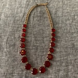 AT Red beveled stone necklace